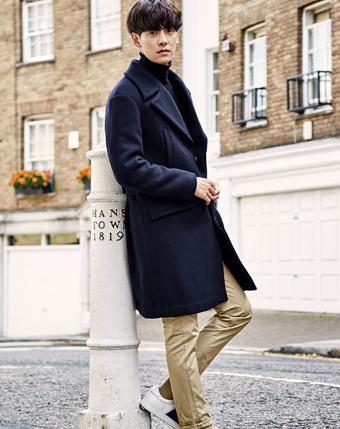 羊毛大衣韩版修身呢大衣