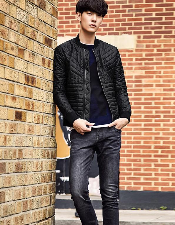 个性黑色时尚棉衣轻薄保暖潮流棉服