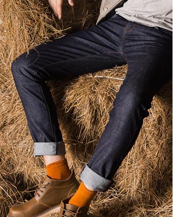 修身型牛仔裤男小脚裤